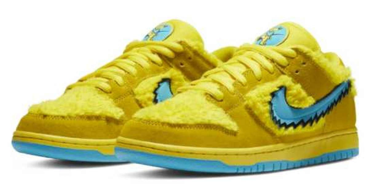 Sexy Nike SB Dunk Low Grateful Dead Bears Yellow for Sale