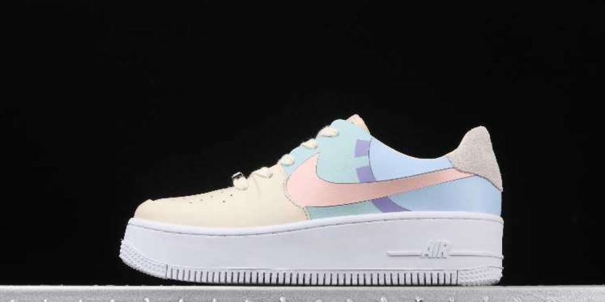 Buy Cheap Nike Air Force 1 Sage Low Beige Pale Blue Pink
