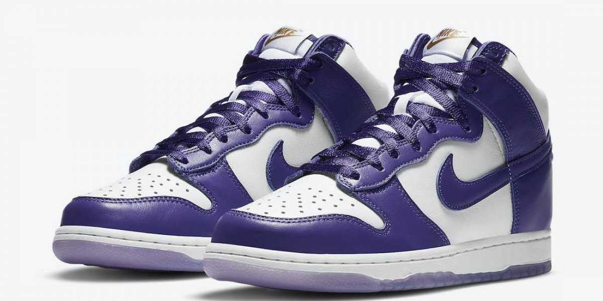 """DC5382-100 Nike Dunk High SP """"Varsity Purple"""" to release on December 3rd 2020"""