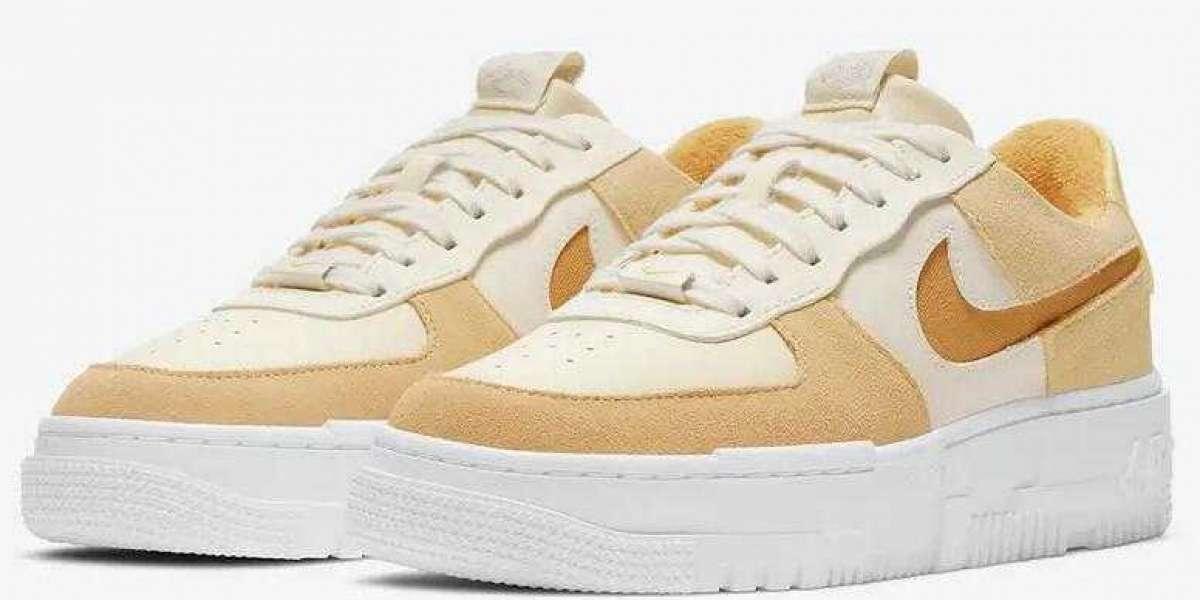 Nike Men Sneakers Air Force 1 Pixel Sail tan DH3856-100 for Sale